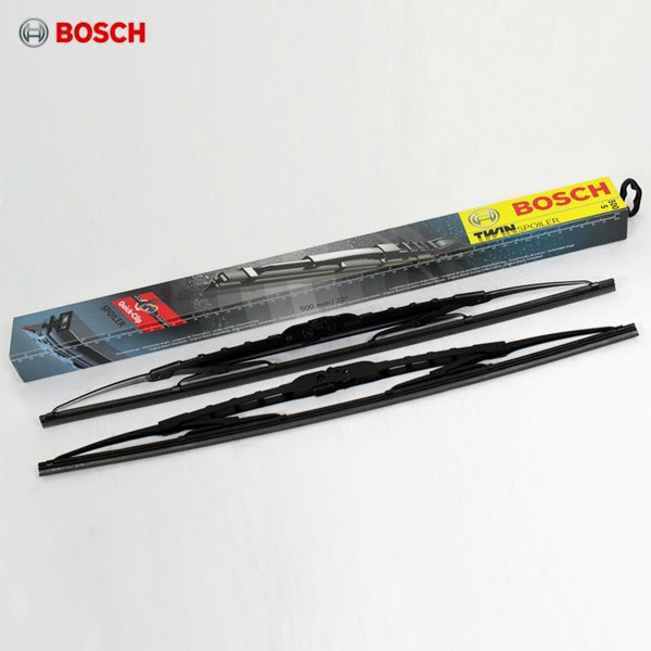 Щетки стеклоочистителя Bosch TwinSpoiler каркасные (водительская со спойлером) для УАЗ Patriot (2005-2018) № 3397118401